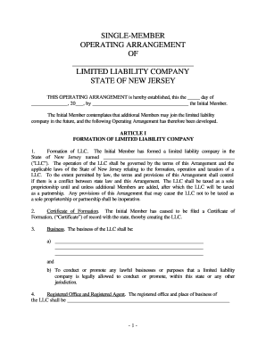 22 Printable Single Member Llc Operating Agreement Forms And