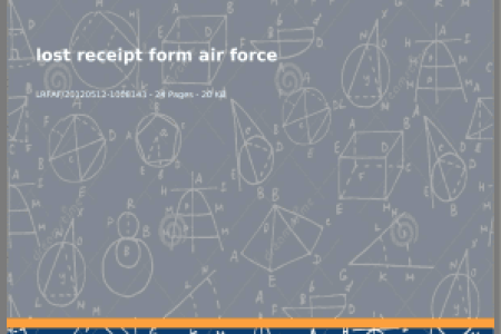 Fillable Online Lost Receipt bFormb Air Force   Complete Source for     Rate This Form
