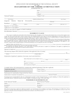 Dar Application Form