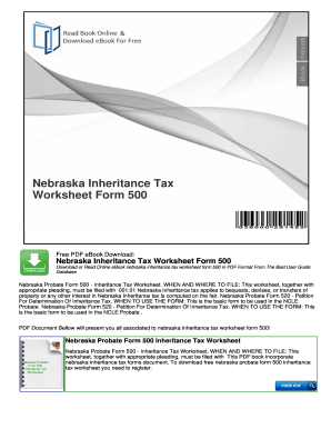 Nebraska Tax Worksheet