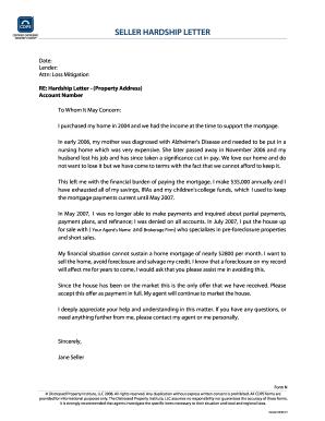 hardship letter for loan modifications
