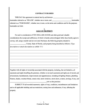 For Sale By Owner Contract Template Florida
