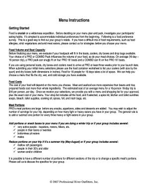 Editable Menu Engineering Worksheet Example