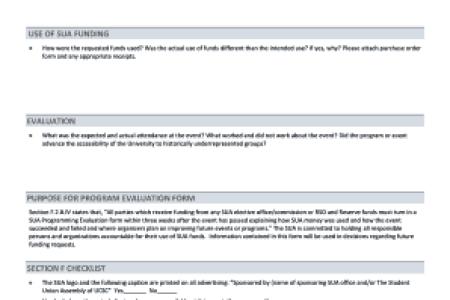 Pretty Program Evaluation Form Photos >> Program Evaluation Form ...