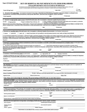 Do Not Resuscitate Order Form Fill Online Printable