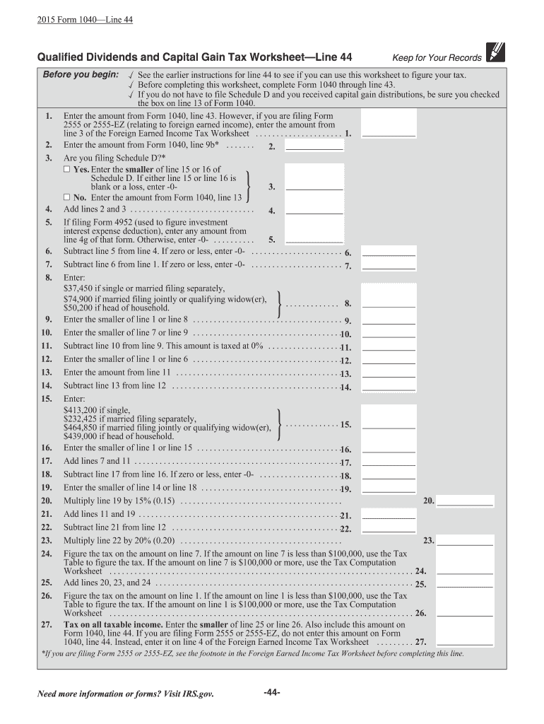 2015 2020 Form Irs Instruction 1040 Line 44 Fill Online