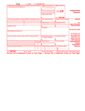 Irs 1099 Oid Form Pdffiller