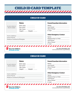 6 Printable Emergency Contact Card Template Forms Fillable