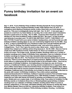 Funny facebook birthday invitations inviview funny birthday invites facebook edit fill out print stopboris Images