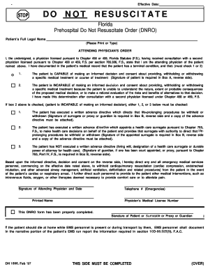 Do Not Resuscitate Order Pa Fill Online Printable