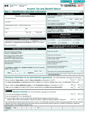 Fillable Online Income Tax And Benefit Return T1 General