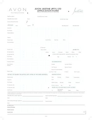 Avon Order Form Fill Online Printable Fillable Blank