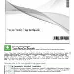 Editable Temporary License Plate Template Fill Online Printable Fillable Blank Pdffiller