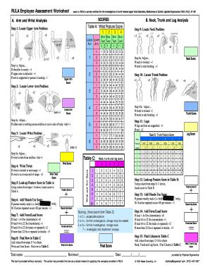 Rula Worksheet