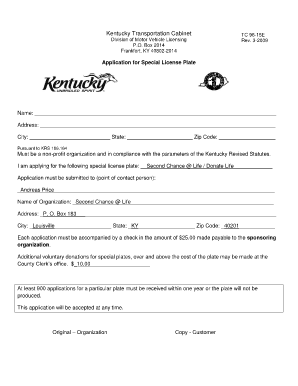 commonwealth of kentucky transportation cabinet certificate of ...