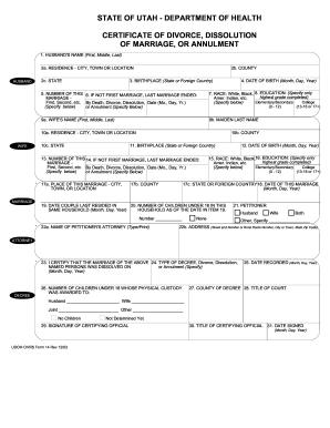 Divorce In Utah Fill Online Printable Fillable Blank