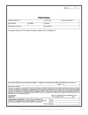 49 Printable Project Proposal Template Forms Fillable