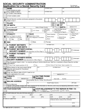 21 Printable Social Security Form Templates Fillable