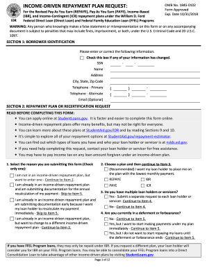 2015 Form ED IDR Fill Online, Printable, Fillable, Blank ...