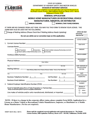 Example Of The Florida Department Highway Safety And Motor Vehicles Notice Sale Form Hsmv