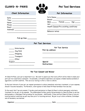 Dog Daycare Forms Fill Online Printable Fillable Blank