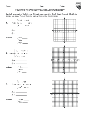 Get The Piecewise Functions Worksheet Form