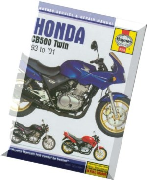 Download Honda CB500 Twin '93 to '01 (Haynes Service