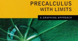 Precalculus With Limits a Graphing Approach 5th edition pdf