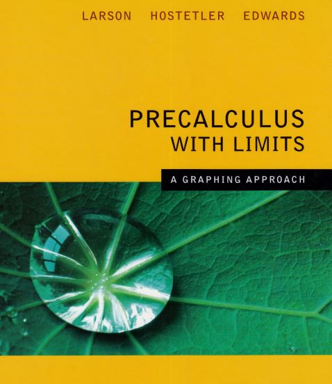 Precalculus With Limits a Graphing Approach 7th edition pdf