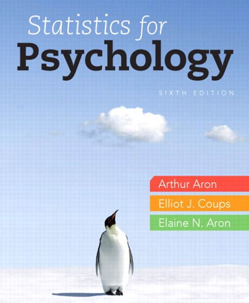 Statistics for Psychology 6th edition pdf download