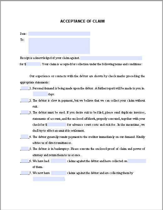letter of claim
