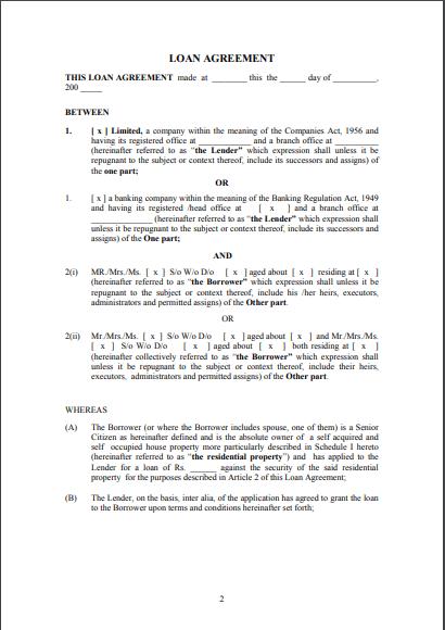 sample loan agreement template 03