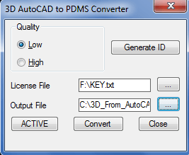 3D AutoCAD to PDMS Converter