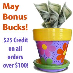 May Bonus Bucks