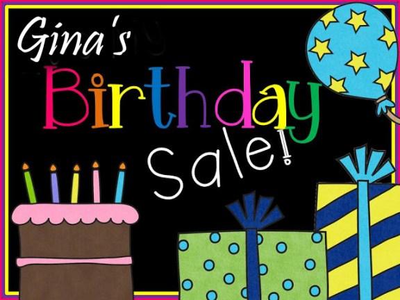 Gina's Birthday CE Sale