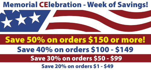 Memorial Day Continuing Education Sale