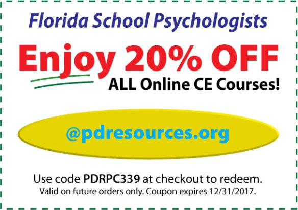 20% Off FL School Psy CE