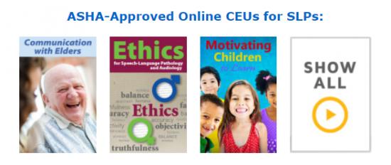 ASHA-Approved Online CEUs for SLPs