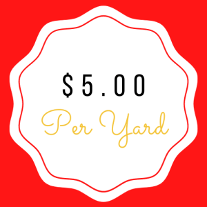 $5.00 Yardage