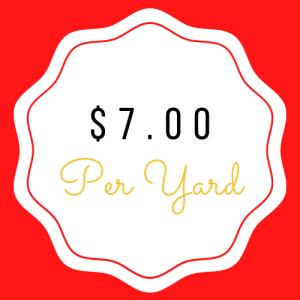 $7.00 Yardage