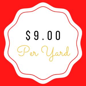 $9.00 Yardage