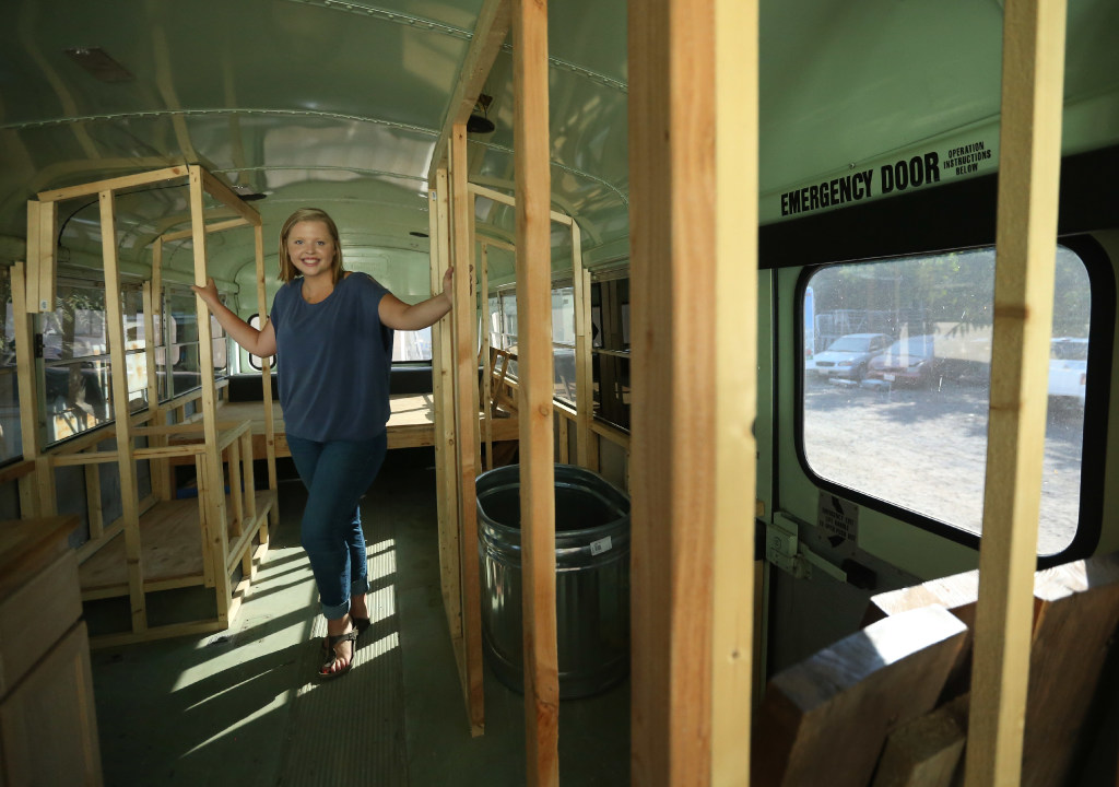 Riverside woman hops aboard tiny house trend – by living