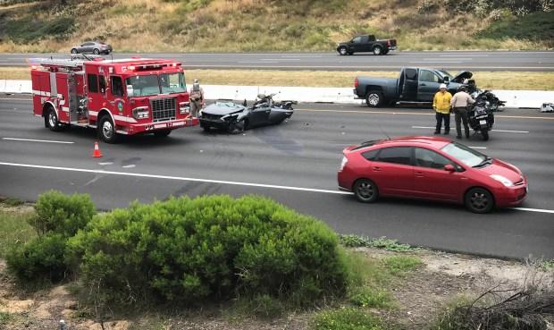 Car Crash On 15 Freeway In Temecula