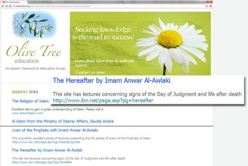 Awlaki Links on Olive Tree Site