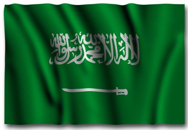 saudi flag ripple