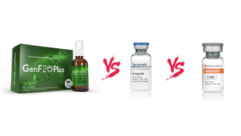 Sermorelin vs Ipamorelin vs GenF20 Plus
