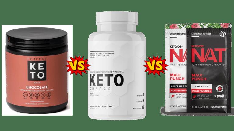 Perfect Keto vs Keto Charge vs Pruvit Keto OS NAT Comparison guide by PBP Staff