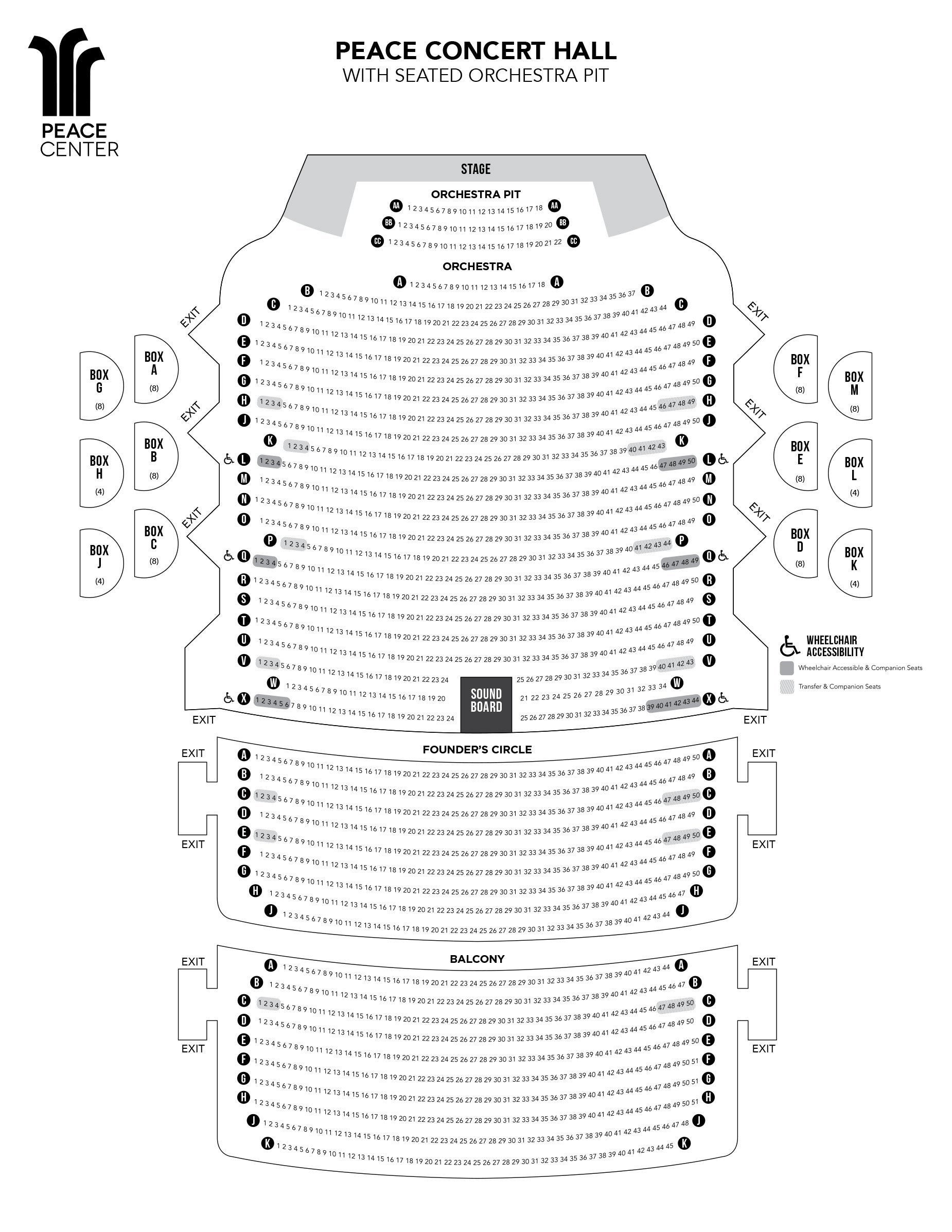Seating Charts Peace Center