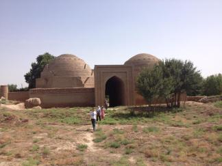 The 9th-11th Century Khoja Mashad Mosque and Mausoleum in Shahrituz, Tajikistan, 20 miles from the Afghan border.