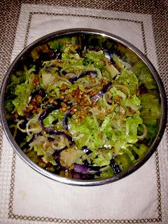 vegan and alkaline cabbage noodles